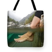 Feet Under The Water Tote Bag