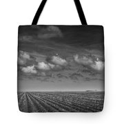 Field Furrows And Clouds In South East Texas Tote Bag