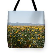 Fields Of Safflowers Tote Bag