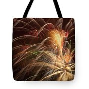 Fireworks In Night Sky Tote Bag by Garry Gay