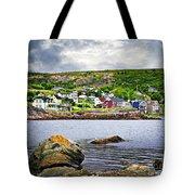Fishing Village In Newfoundland Tote Bag by Elena Elisseeva