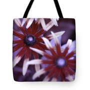 Flower Rudbeckia Fulgida In Uv Light Tote Bag by Ted Kinsman