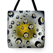 Flowers In Water Drops Tote Bag