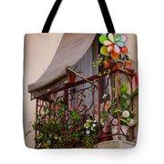 Flowery Balcony Tote Bag