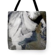 Fog In The North Sea Tote Bag