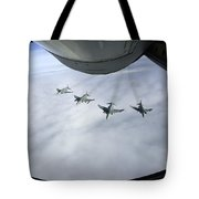 Formation Of Luftwaffe F-4f Phantom IIs Tote Bag