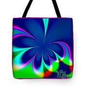 Fractal 24 Floral Fleur De Lis Tote Bag