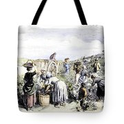 France: Grape Harvest, 1854 Tote Bag by Granger