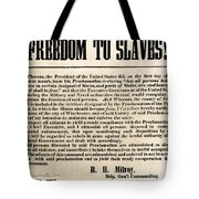 Freedom To Slaves Tote Bag