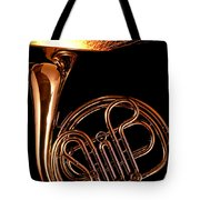 French Horn With Sparks Tote Bag
