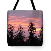 Frosted Morning Silhouette Tote Bag
