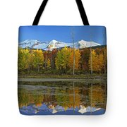 Full Moon Over East Beckwith Mountain Tote Bag