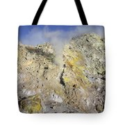 Fumaroles With Sulphur Deposits. Flank Tote Bag