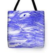 Gentle Giant In Negative Blue Tote Bag