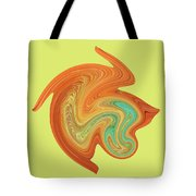 Gerbera Abstract Tote Bag