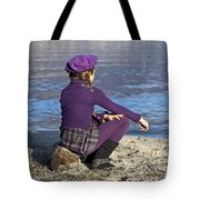 Girl At A Lake Tote Bag by Joana Kruse