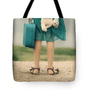 Girl In The Dunes Tote Bag