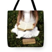 Girl Is Reading A Book Tote Bag