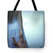 Girl With Baby Doll Tote Bag