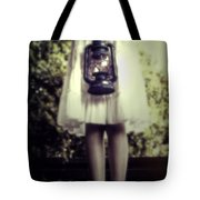 Girl With Oil Lamp Tote Bag