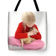 Girl With Puppy Tote Bag by Mark Taylor