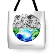 Globe With Cogs And Gears Tote Bag