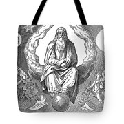 God Resting On 7th Day Tote Bag