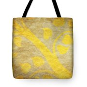 Golden Tree Pattern On Paper Tote Bag