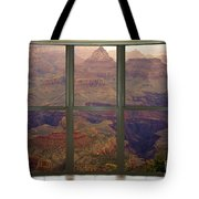 Grand Canyon Springtime Bay Window View Tote Bag