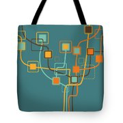 Graphic Tree Pattern Tote Bag by Setsiri Silapasuwanchai