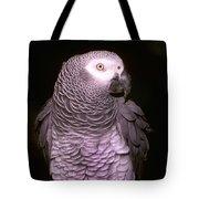 Gray Parrot Tote Bag