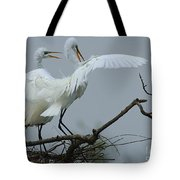 Great Egret Pair Tote Bag