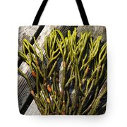 Green Fleece Seaweed Tote Bag