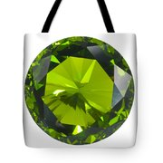 Green Gem Isolated Tote Bag
