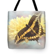 Grunge Giant Swallowtail Tote Bag