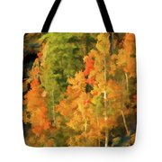 Hang Gliding The Autumn Colors Tote Bag