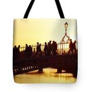 Hapenny Bridge, Dublin, Co Dublin Tote Bag