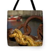 Harbour With Mooring And Fishing Boat Tote Bag