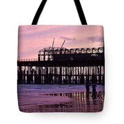 Hastings Pier After The Fire Tote Bag by Dawn OConnor