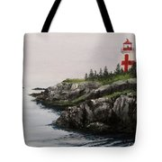 Head Harbour Lighthouse Tote Bag by Jack Skinner
