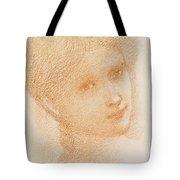 Head Study Of A Girl Tote Bag
