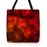 Hearts Background Tote Bag