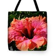 Hibiscus Blossom Tote Bag