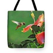 Hibiscus Hummer Tote Bag