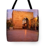 Historic Door In Granada Elvira Arch Tote Bag