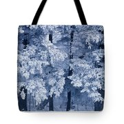 Hoarfrost On Trees In Winter, Birds Tote Bag