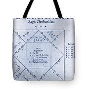 Horoscope Chart For Louis Xiv, 1661 Tote Bag