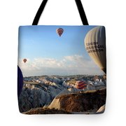 Hot Air Balloons Over Cappadocia Tote Bag