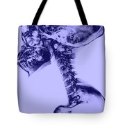 Human Skull And Spine Tote Bag