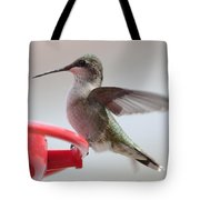 Hummingbird With Wings Back Tote Bag